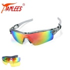 Panlees JH0028 3 Lenses Interchangeable Sports Sunglasses - Grey
