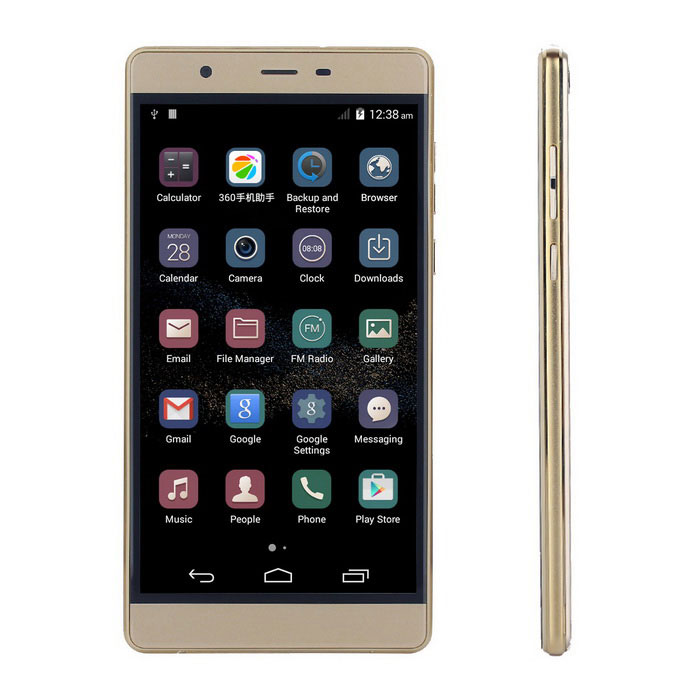 "P8+ Android 4.4 Smartphone w/ 5.0"" Screen, 512MB RAM, 4GB ROM - Golden"