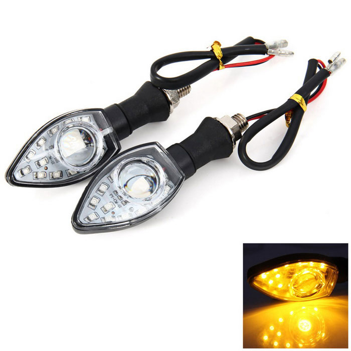 Qook 13-LED Orange Motorcycle Turn Signal Light Bulb Indicator (2PCS)