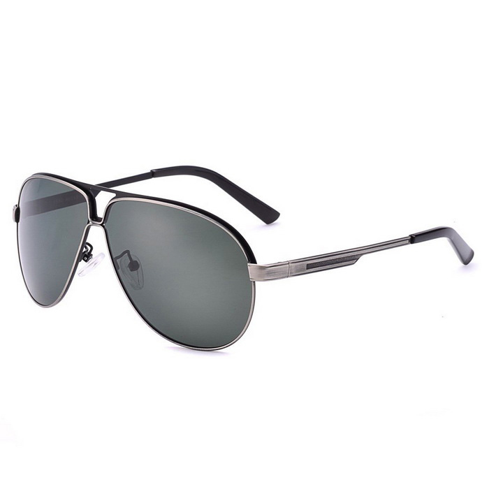 SENLAN 2830P1 Men's Polarized Sunglasses - Black + Grey