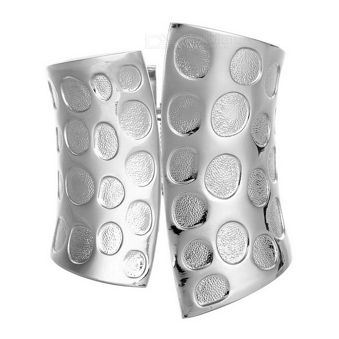 Unisex Super Cool 8.4cm Wide Armband - Silver