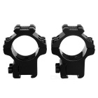 MD2302 Baixa Narrow Anel vista de arma Scope Mount - Black (2PCS)
