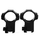 M2308 25.4mm Ring Gun Sight Scope Mount Holder - Black (2PCS)