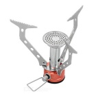 Mini Portable Outdoor Camping Folding Gas Stove - Orange + Silver