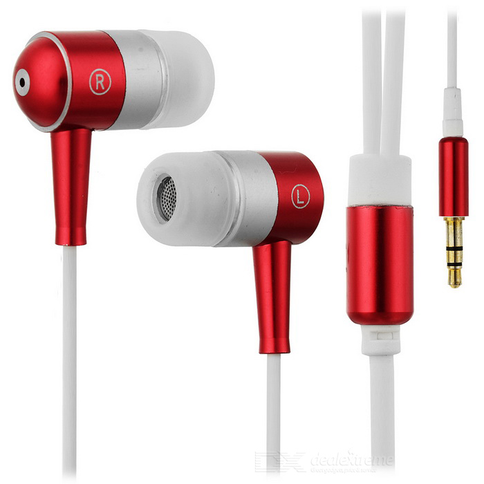 In-Ear Stereo Earbuds (3.5mm Metallic Red)