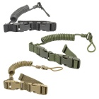 Outdoor Tactical Pistol Safety Harness / Dog Leash - Black (120cm)