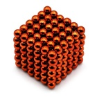 5mm Magnetic Beads Puzzle Spielzeug - Orange (216PCS)