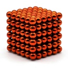5mm Magnetic Beads Puzzle Toy - Orange (216PCS)