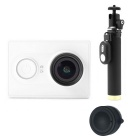 Xiaomi Xiaoyi 16MP Sports Camera + Monopod + Lens Cover Set - White