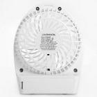 Mini Outdoor Rechargeable USB Fan 3-Mode with LED - White