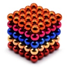 5mm Magnetic Beads Puzzle Toy - Orange + Blue + Multi-Colored (125PCS)