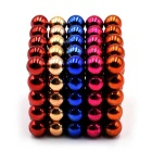 Beads magnéticos 5mm de Puzzle Toy - laranja + azul + Multi-Colored (125PCS)