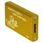 Mini USB 3.0 to mSATA Hard Disk SSD Case - Golden