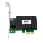 DIEWU PCI-E 1000Mbps Network Adapter for Desktop PC - Black + Green