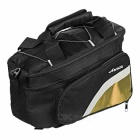 ACACIA Extendable Outdoor Cycling Bike Pannier Bag - Black + Yellow