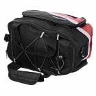 ACACIA Extendable Outdoor Cycling Bike Pannier Bag - Black + Red