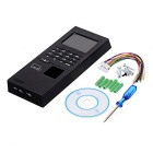 "2.8"" LCD Biometric Fingerprint Attendance Time Clock Recorder - Black"