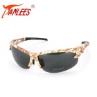 Panlees SP011 Retro Sports Polarized Sunglasses - Yellow + Brown