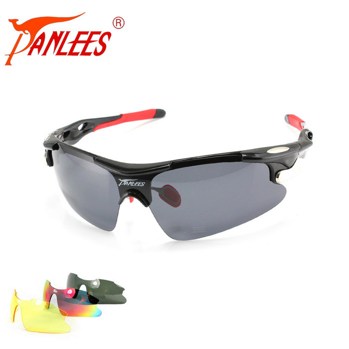 Panlees D548 3 Lenses Interchangeable Sports Sunglasses - Shiny BlackSport Sunglasses<br>Frame ColorShiny black + redLens Color3 lensesModelD548Quantity1 DX.PCM.Model.AttributeModel.UnitShade Of ColorBlackFrame MaterialTR90Lens Material1 polarized lens + 2 PC lensesProtectionUV400GenderUnisexSuitable forAdultsFrame Height4.5 DX.PCM.Model.AttributeModel.UnitLens Width13.8 DX.PCM.Model.AttributeModel.UnitBridge Width2.8 DX.PCM.Model.AttributeModel.UnitOverall Width of Frame15 DX.PCM.Model.AttributeModel.UnitPacking List1 * TR90 glasses frame1 * Polarized lens2 * PC lenses1 * Cleaning cloth1 * Glasses bag1 * Strap1 * Zippered bag<br>
