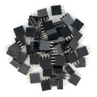 2*3P Female Pin Header Kit for Arduino Expansion Shield - Black(50PCS)