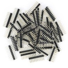 10P Male Pin Header Kit for Arduino Expansion Shield - Black (50PCS)