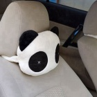 ZIQIAO Panda Pattern Car Seat Neck/Head Pillow - White + Black (Pair)