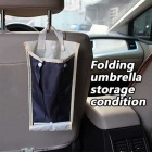 ZIQIAO Car Waterproof Collapsible Umbrella Storage Bag - Blue + Beige