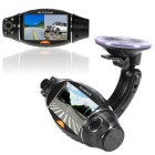 R310 2.7'' TFT LCD CMOS HD Dual Camera Car HD DVR Recorder - Black