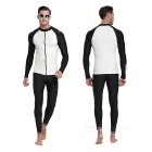 Sbart Men's Scuba Diving Surfing Dive Skin - Black + White (XXL)
