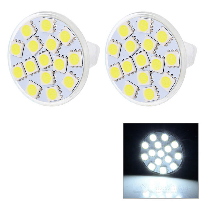JRLED MR11 1.6W luz blanca fría proyector de LED - blanco + amarillo (2PCS)