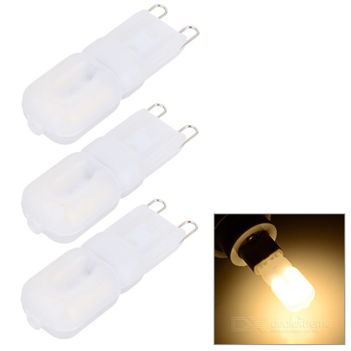 JRLED Dimmable G9 5W LED Bombilla Blanca Caliente - Blanco (AC 220V / 3PCS)