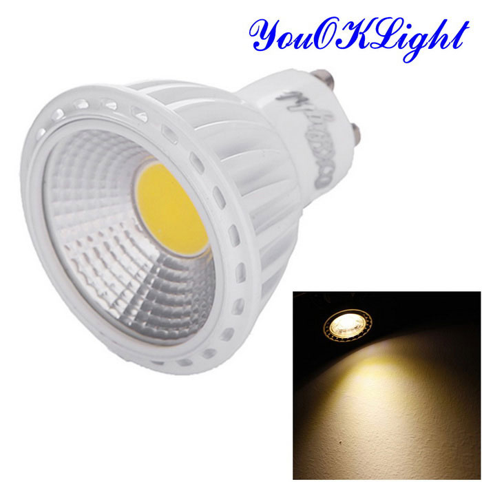 YouOKLight GU10 6W Dimmable Warm White COB LED Spotlight (AC 220~240V)