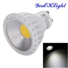 YouOKLight YK1660 GU10 6W White Light LED Spotlight - White + Yellow