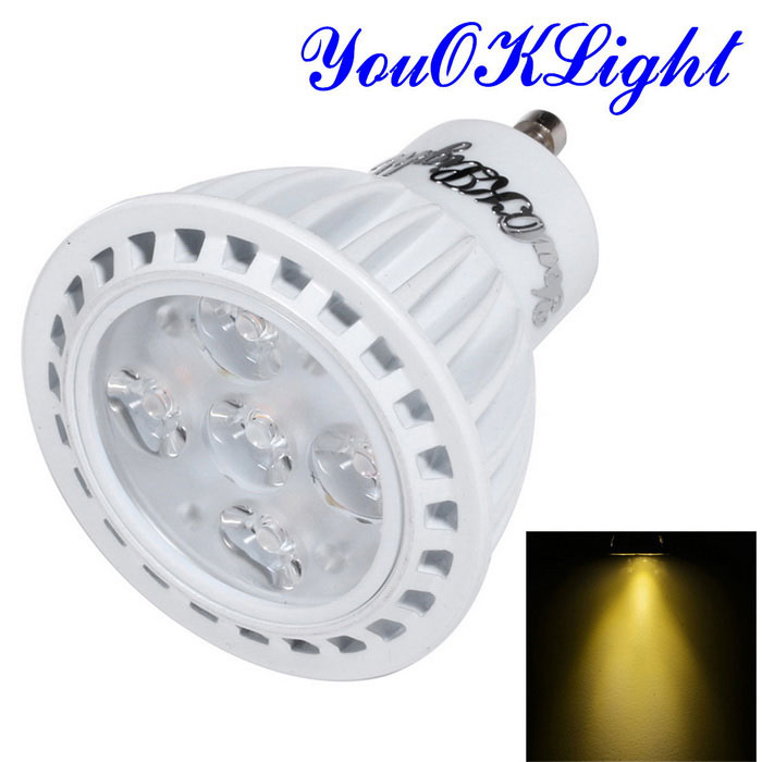 YouOKLight YK1664 GU10 5W Warm White Light LED Bulb - White (85~265V)