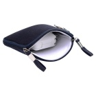 "Denim Laptop Inner Bag + Storage Bag for MacBook 12"" - Navy Blue"