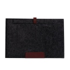 "Wool Felt Inner Bag + Accessory Bag Set for Macbook 12"" - Black"