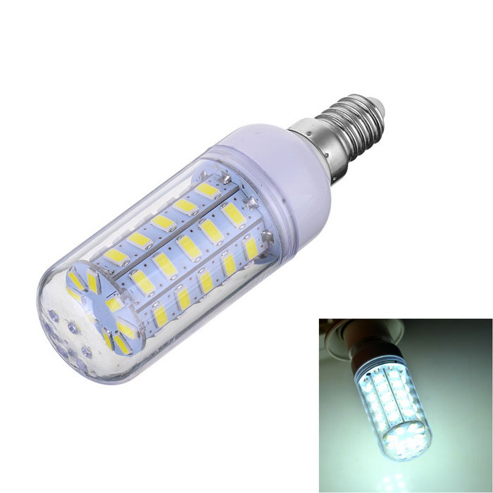 Marsing E14 7W 600lm 48-SMD 5730 LED Cold White Light Bulb