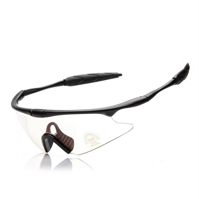 SCREW J004C5 Sports Sunglasses - Black + Transparent