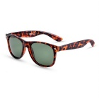 SENLAN 2140P3 Polarized Sunglasses - Tortoiseshell + Dark Green
