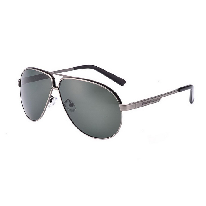 SENLAN 2830P2 Men's Polarized Sunglasses - Gun Color + Grey