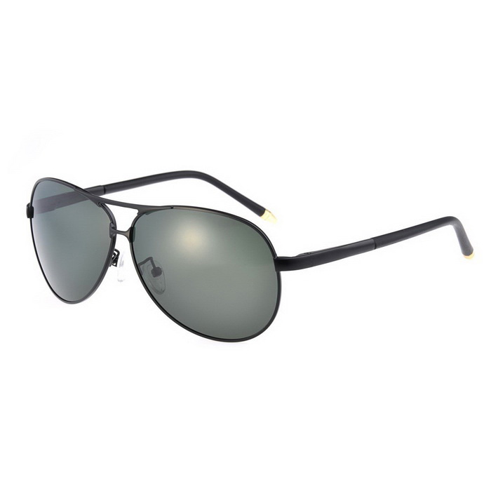SENLAN 2837P1 Men's Polarized Sunglasses - Black + Grey