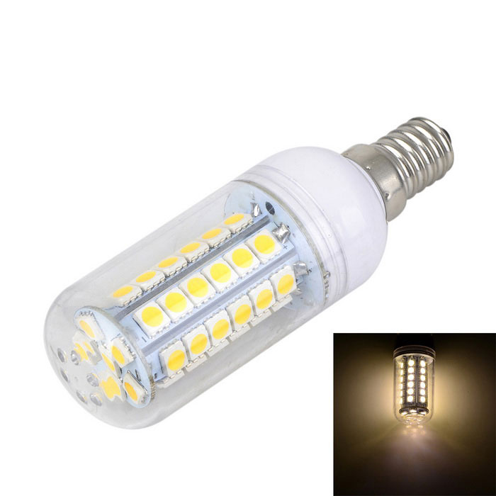 E14 7W 600lm 3000K 48-SMD 5050 LED Warm White Light Bulb (AC 220-240V)