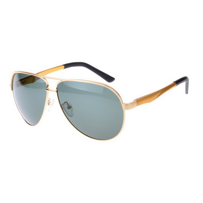 SENLAN 2838P3 Men's Polarized Sunglasses - Golden + Grey