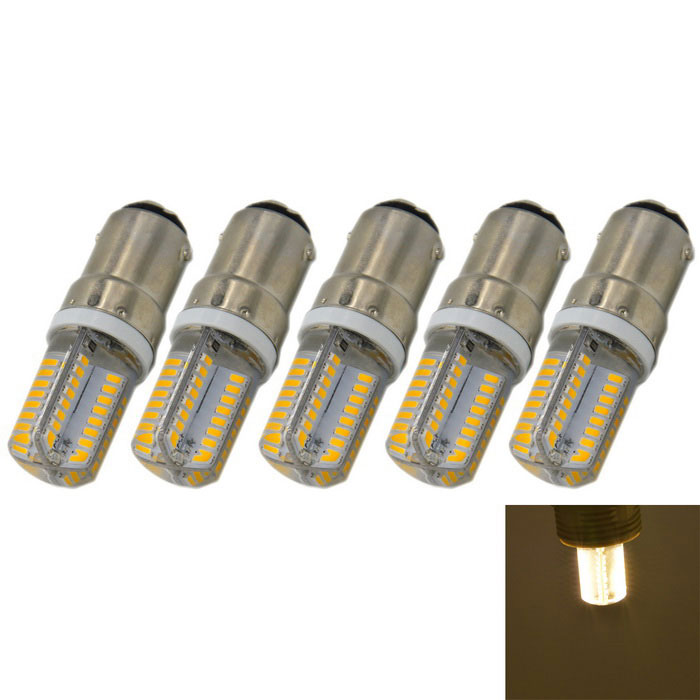 B15 3W 260lm 64-LED Warm White Light Bulbs (AC 220V / 5PCS)