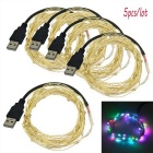 JIAWEN USB 5m 3W 50-LED RGB Holiday Decoration String Light (5PCS)