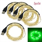 JIAWEN USB 5m 3W 50-LED Green Holiday Decoration String Light (5PCS)