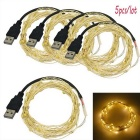 JIAWEN USB 5m 3W 50-LED Warm White Decoration String Light (5PCS)