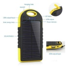 """5000mAh"" Waterproof Solar Power Bank - Yellow + Black"