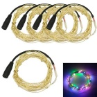 JIAWEN 3W Colorful Light LED String Light - Silver (5*1m / DC 12V)