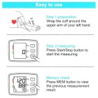 "2.5"" Fully Automatic Digital Blood Pressure Monitor - Black (EU Plug)"